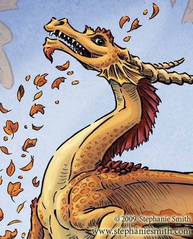 Dragon of Autumn — close-up detail