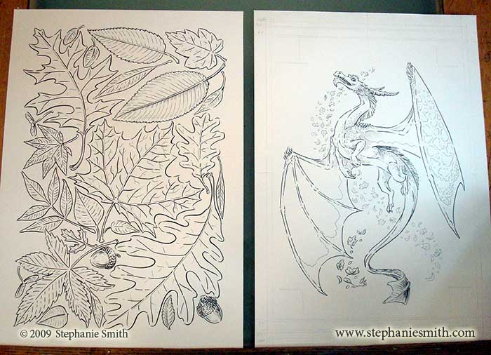 Dragon of Autumn — original ink drawings