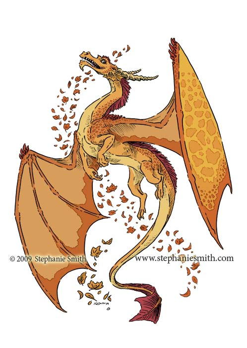 Dragon of Autumn — flat colors