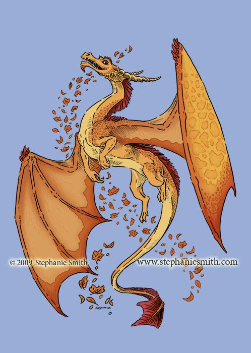 Dragon of Autumn — color details