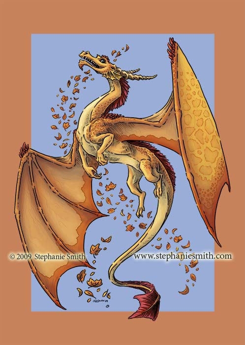 Dragon of Autumn — shading