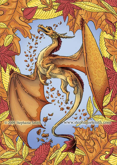 Dragon of Autumn — leaf frame