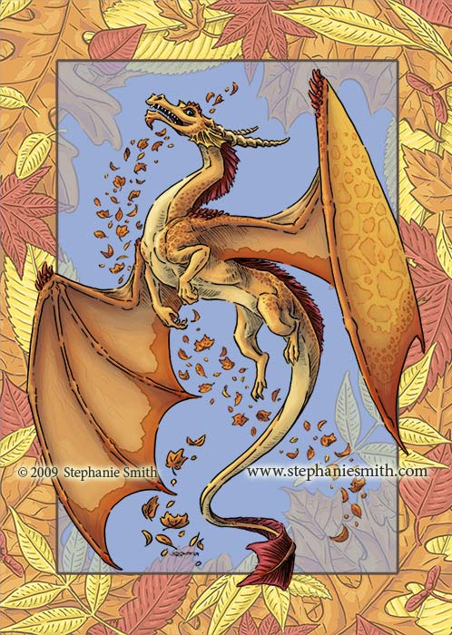 Dragon of Autumn — leaf frame part 2