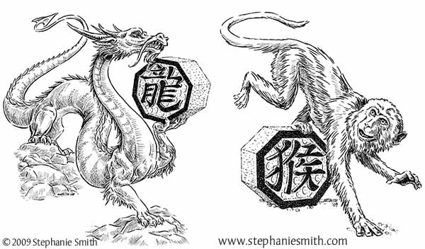 Chinese Zodiac Preview — The Dragon and the Monkey