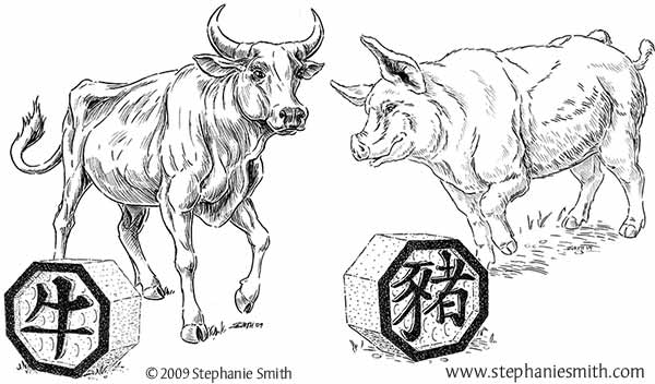 Chinese Zodiac Preview — The Ox and The Pig
