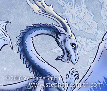 The Dragon of Winter detail