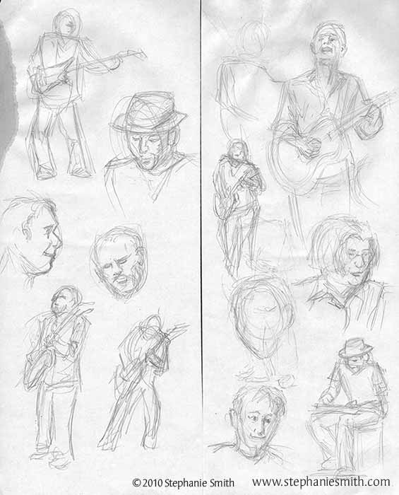 Toad Concert Sketches