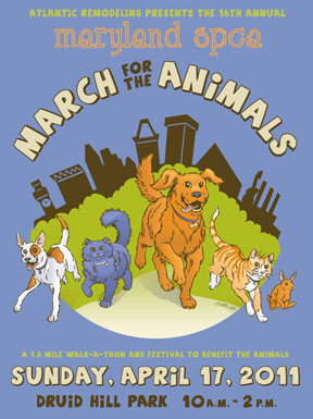 March for Animals poster