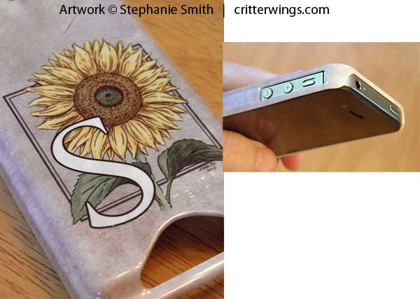 """S is for Sunflower"" on Case-Mate Barely There ID case from Zazzle - Details"
