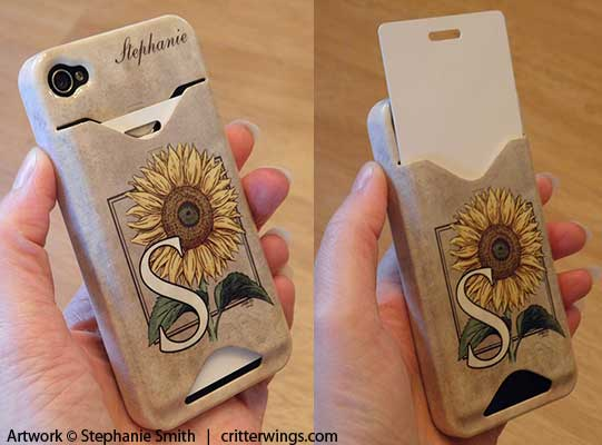 """S is for Sunflower"" on Case-Mate Barely There ID case from Zazzle"