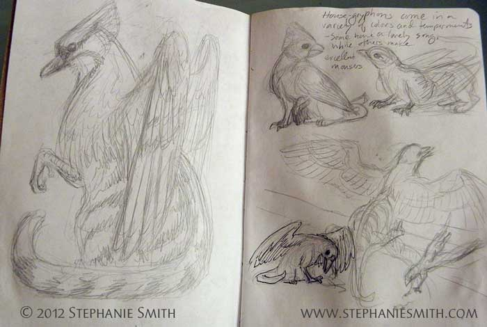 Sketchbook Project 2012: House Gryphons