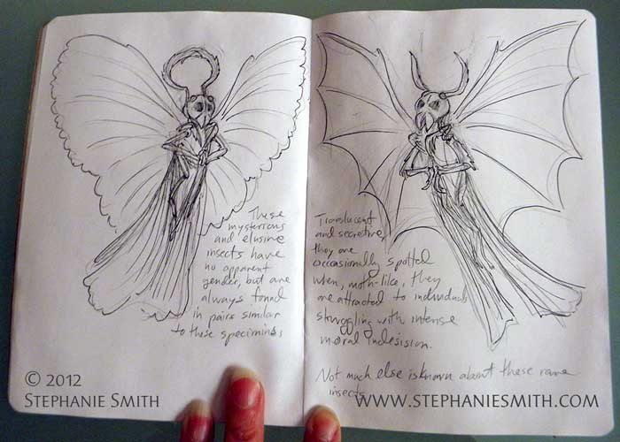 Sketchbook Project 2012: Strange Insects