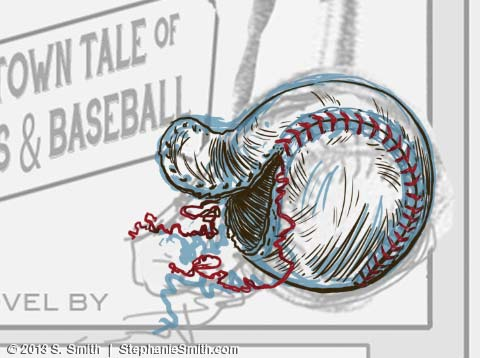 "Baseball Drawing - ""inks"""