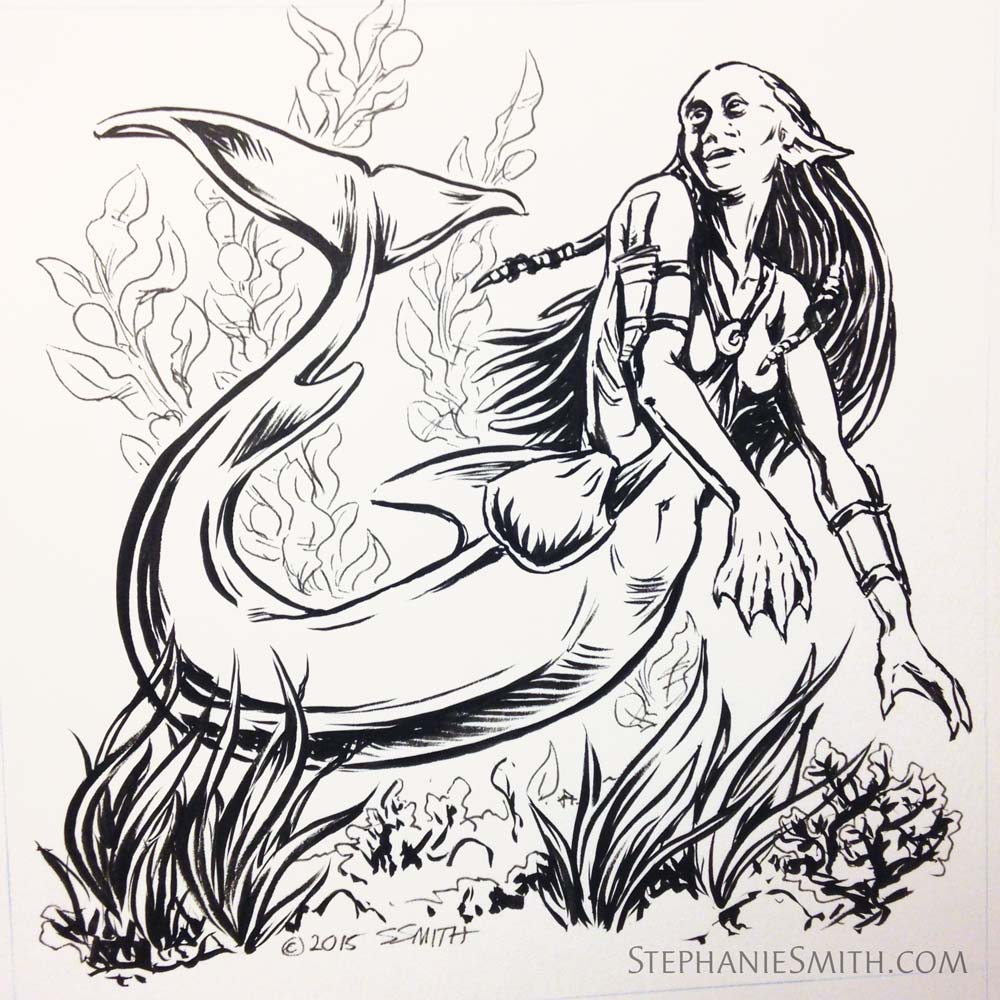 Mermaid in ink